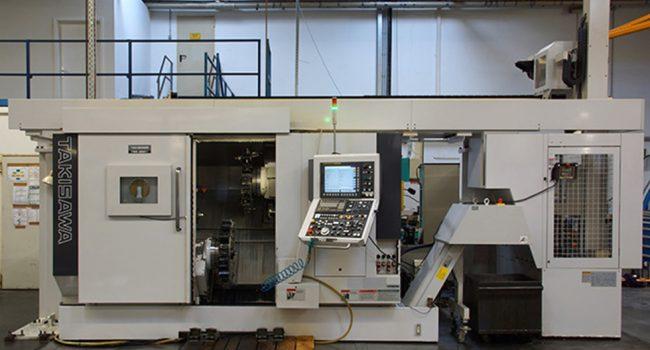 mechanische metallbearbeitung schoenebeck mierwald cnc drehzentrum Takisawa TMM 250 Takisawa-TMM-250 drehen maschine bearbeitungszentrum rotationssymmetrische Werkstücke bedienpult